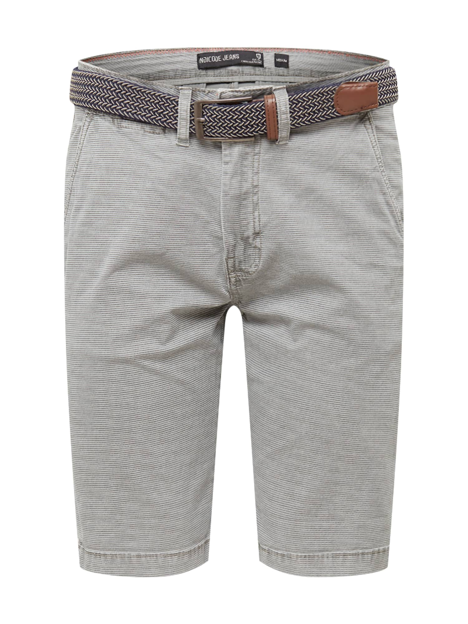 """INDICODE JEANS """"Chino"""" stiliaus kelnės 'Caedmon' šviesiai pilka"""
