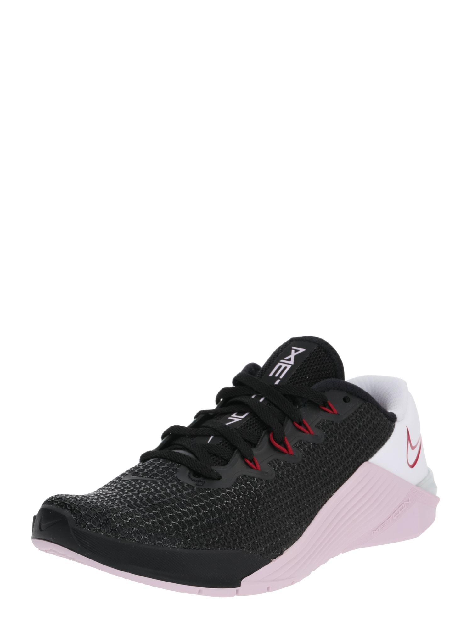 NIKE Sportiniai batai 'Metcon 5' pastelinė rožinė / juoda