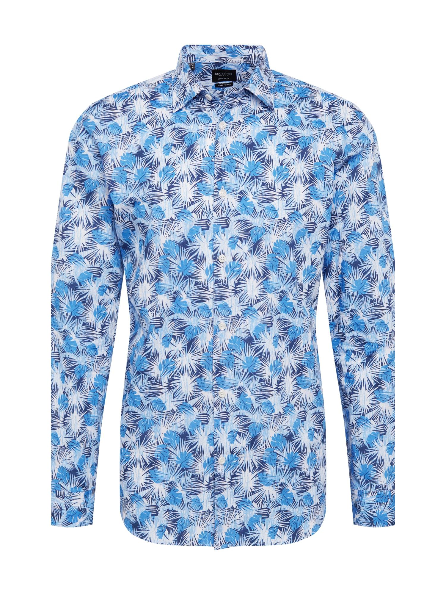 Košile REGPEN-JESS modrá bílá SELECTED HOMME