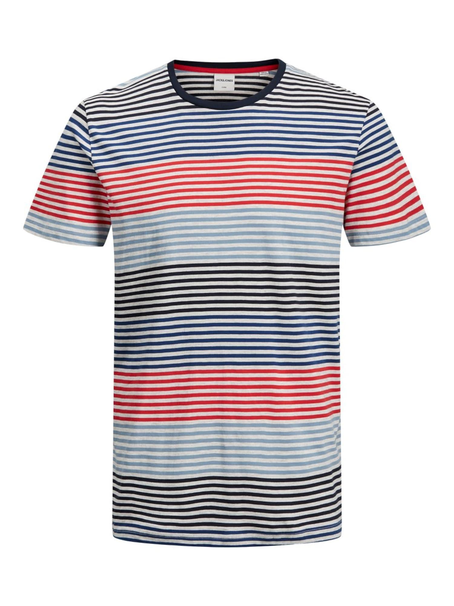 JACK & JONES Póló  kék / piros / fekete / fehér