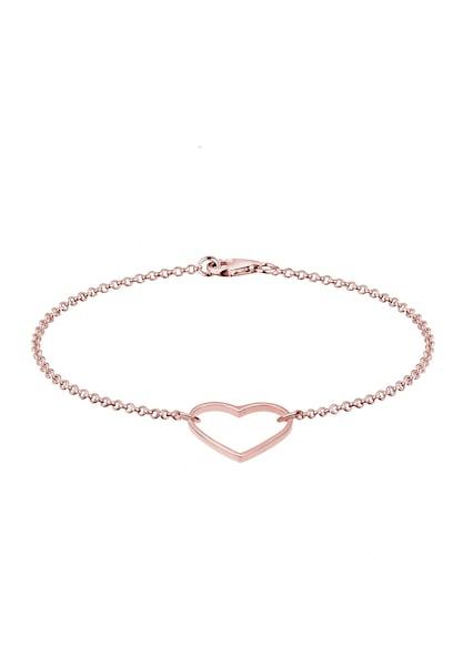 Armbaender für Frauen - ELLI Armband 'Herz' rosegold  - Onlineshop ABOUT YOU