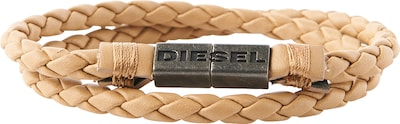 DIESEL Leder-Armband in Flecht-Optik 'Alucy'