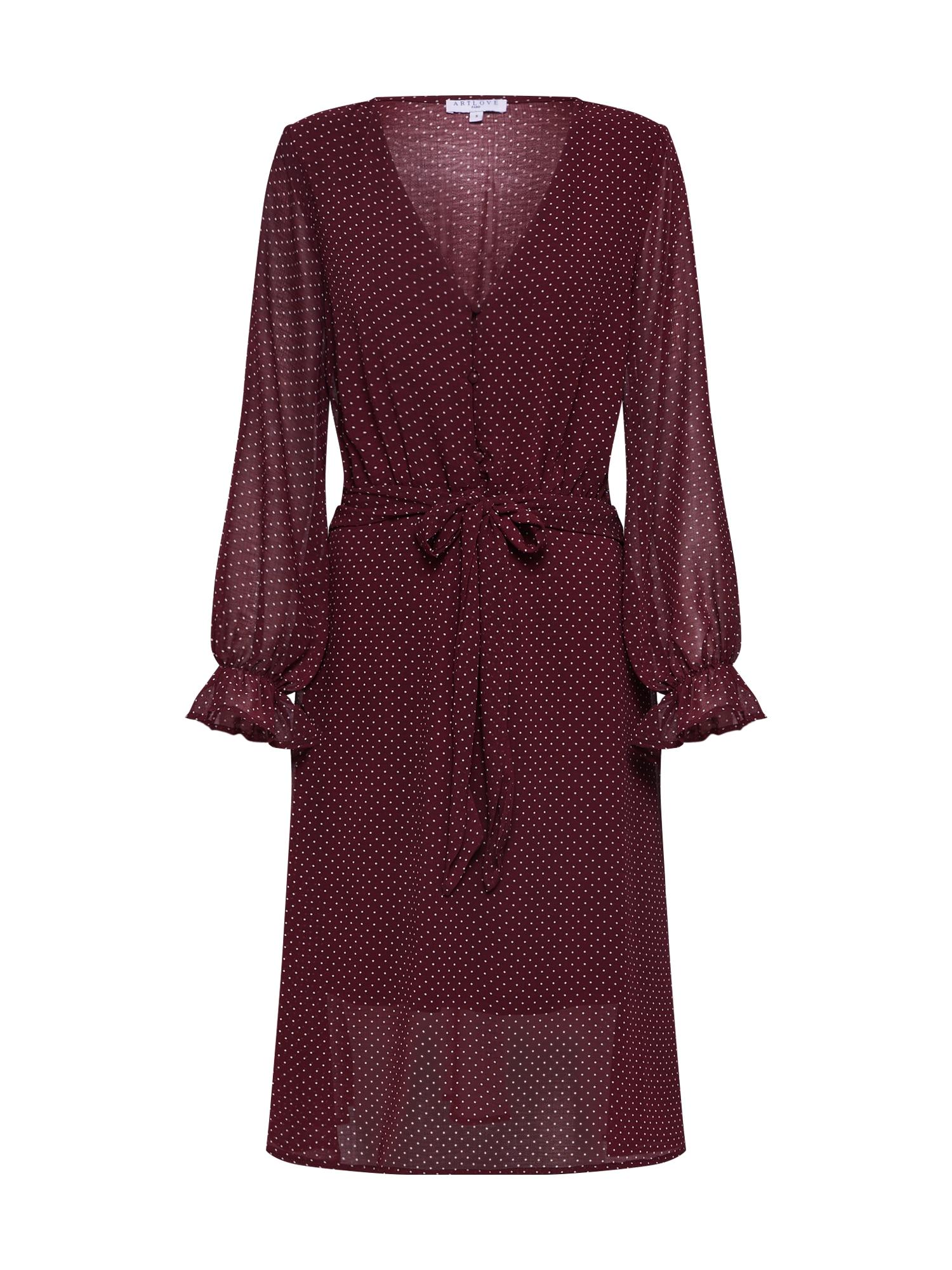 ARTLOVE Paris Suknelė '36137' vyno raudona spalva