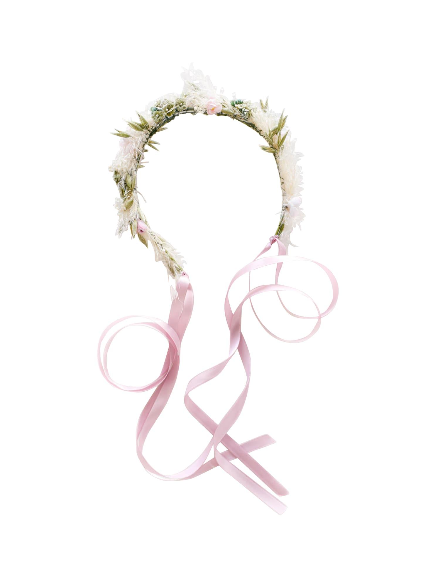 We Are Flowergirls Plaukų papuošalas 'Layha' žalia / rožių spalva