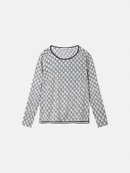 Oberteile für Frauen - Sandwich Shirt anthrazit hellgrau  - Onlineshop ABOUT YOU