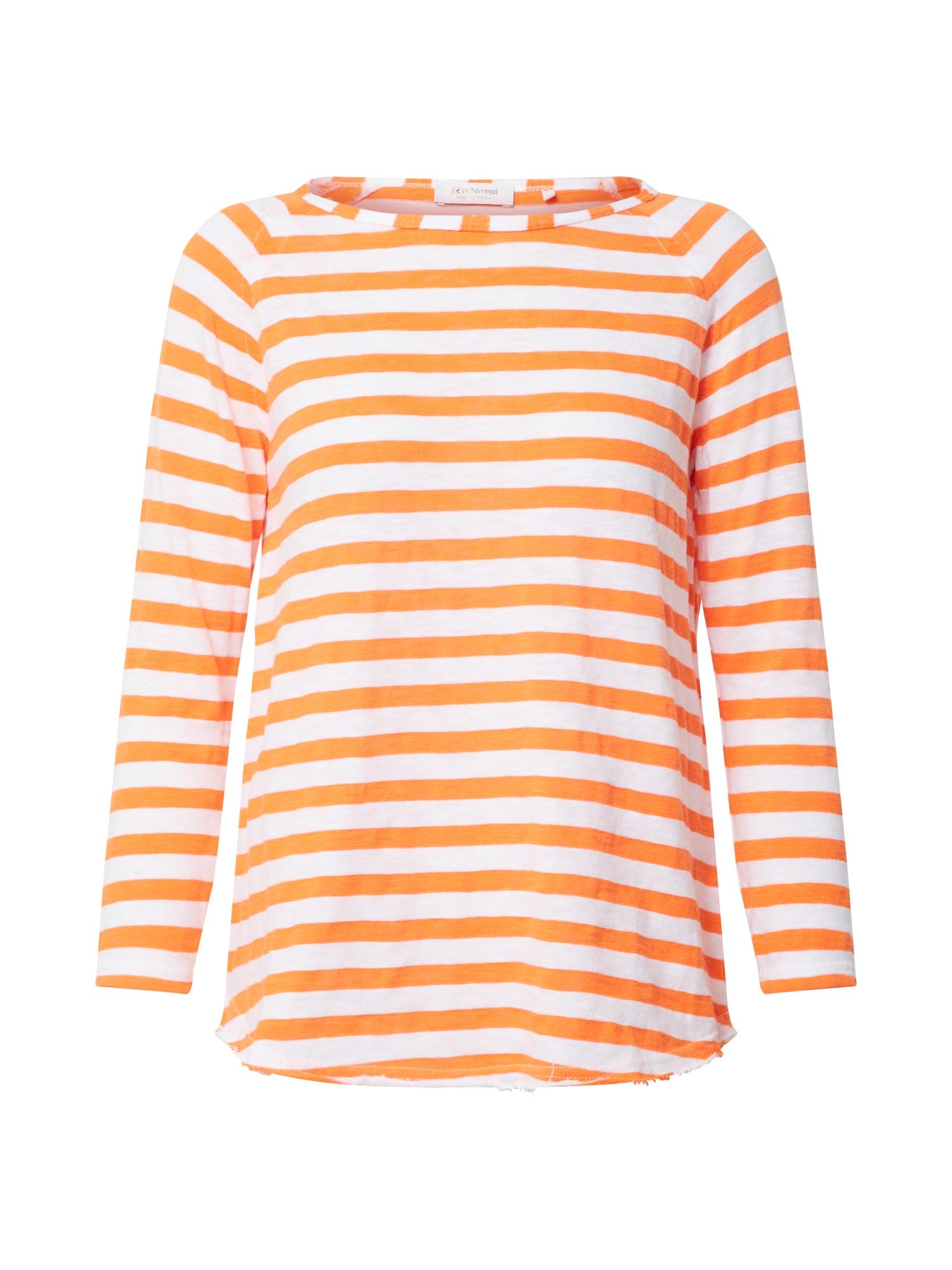 Rich & Royal Tričko  biela / neónovo oranžová