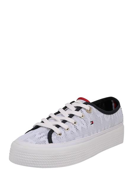 Sneakers für Frauen - TOMMY HILFIGER Sneaker 'TOMMY JACQUARD FLATFORM SNEAKER' weiß  - Onlineshop ABOUT YOU