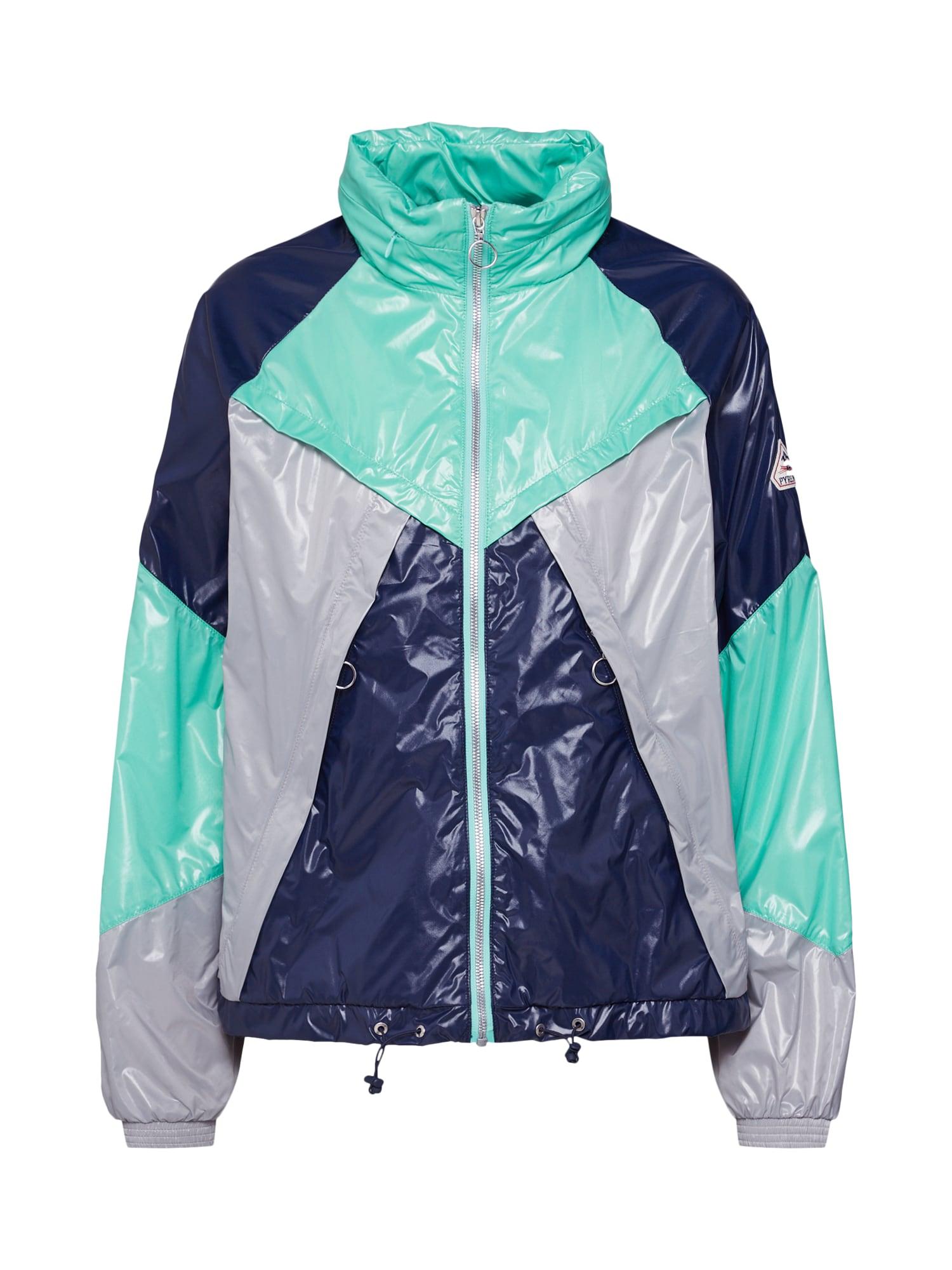 Přechodná bunda Motola kobaltová modř šedá zelená PYRENEX