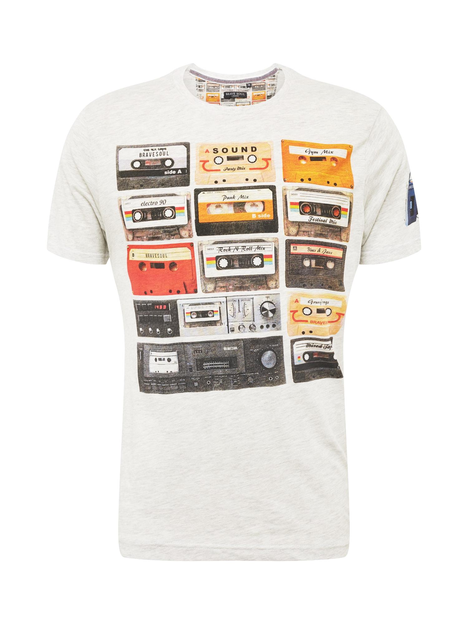 BRAVE SOUL Marškinėliai mišrios spalvos / balkšva