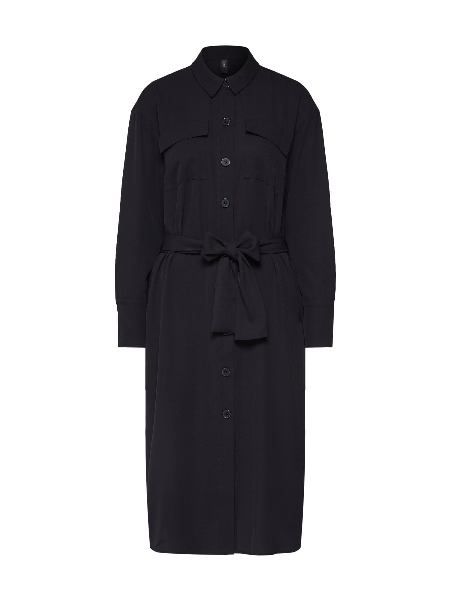 Y.A.S Košeľové šaty 'YASECHO LS SHIRT DRESS'  čierna