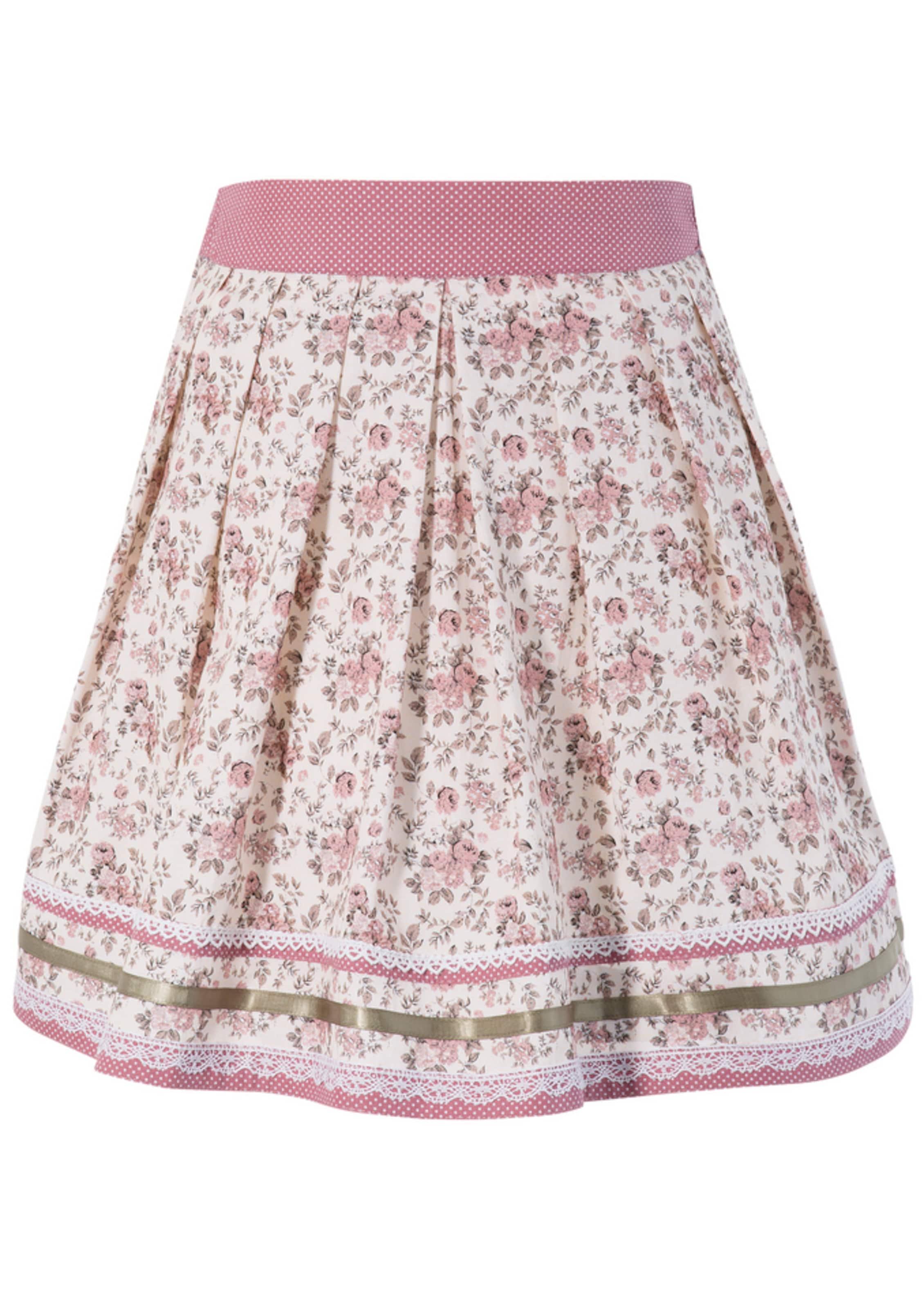 Kinder,  Mädchen,  Kinder MARJO Trachtenrock creme,  beige,  grün,  rosa | 04058057378487