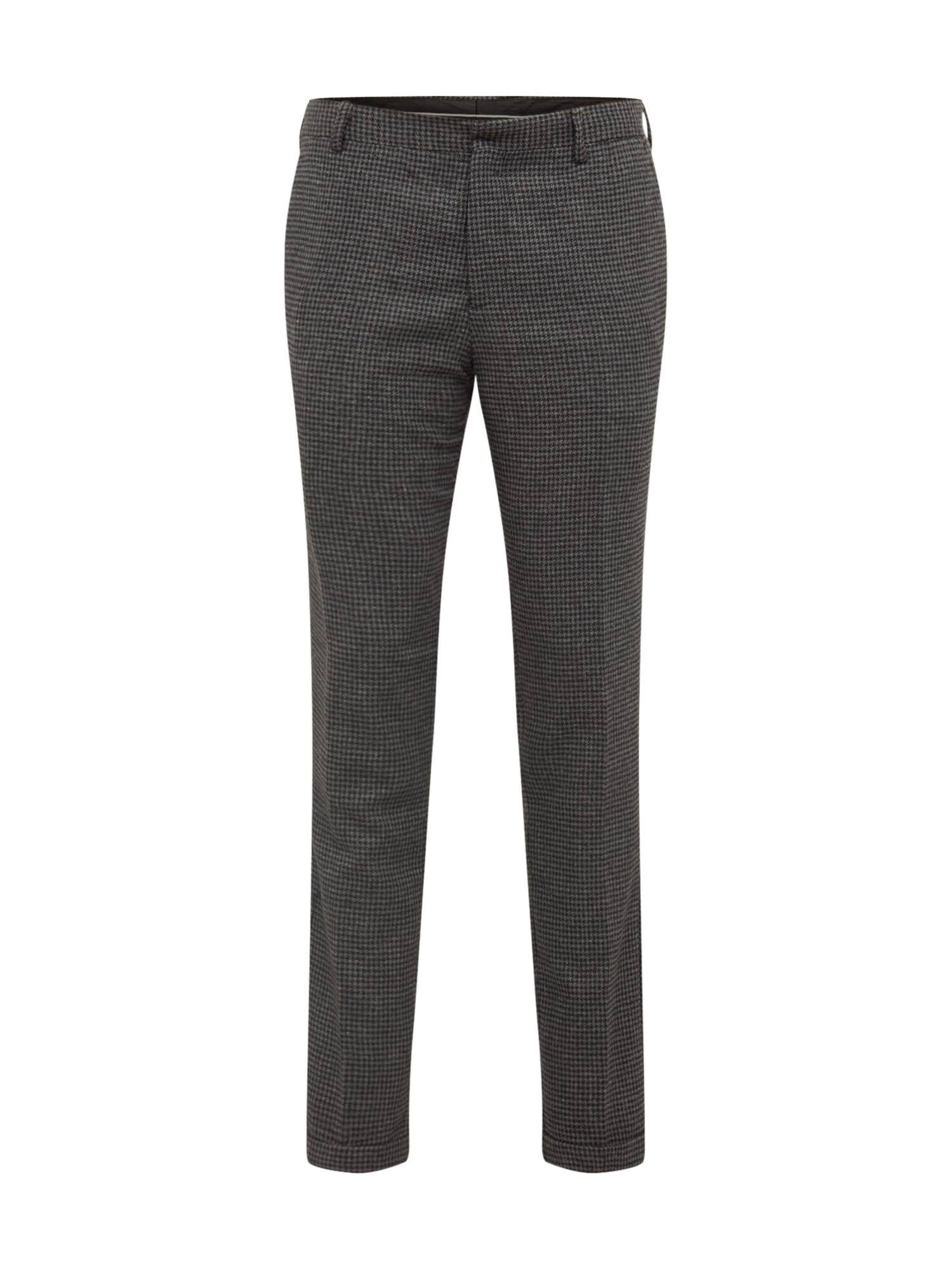 SELECTED HOMME Chino nohavice 'SLHSLIMTAPERED-FLEET PANTS B'  sivá / čierna