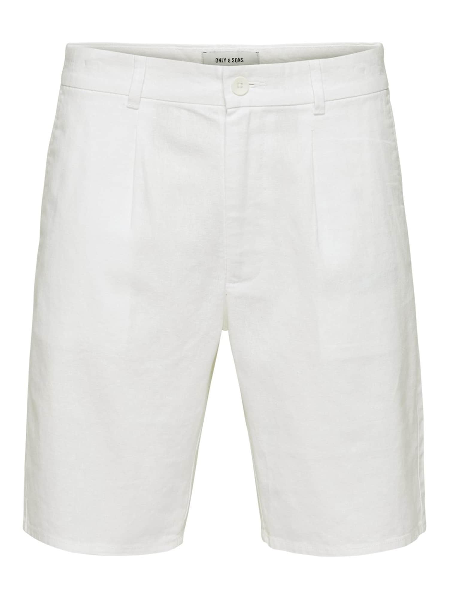 Only & Sons Chino stiliaus kelnės balta
