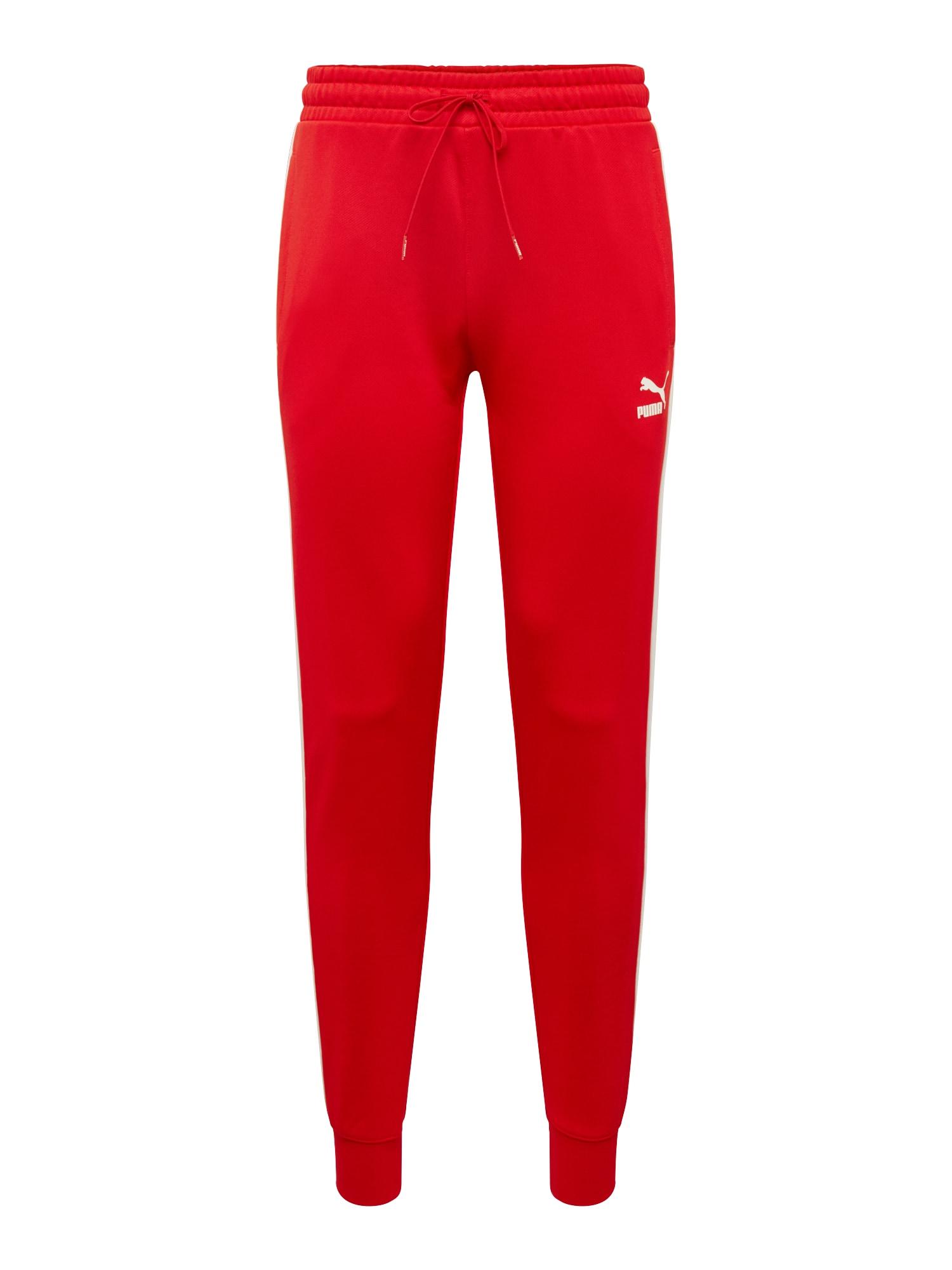 Kalhoty Iconic T7 světle červená bílá PUMA