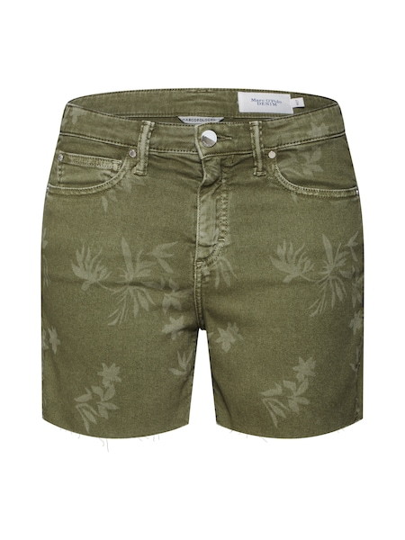 Hosen für Frauen - Marc O'Polo DENIM Shorts grün khaki  - Onlineshop ABOUT YOU