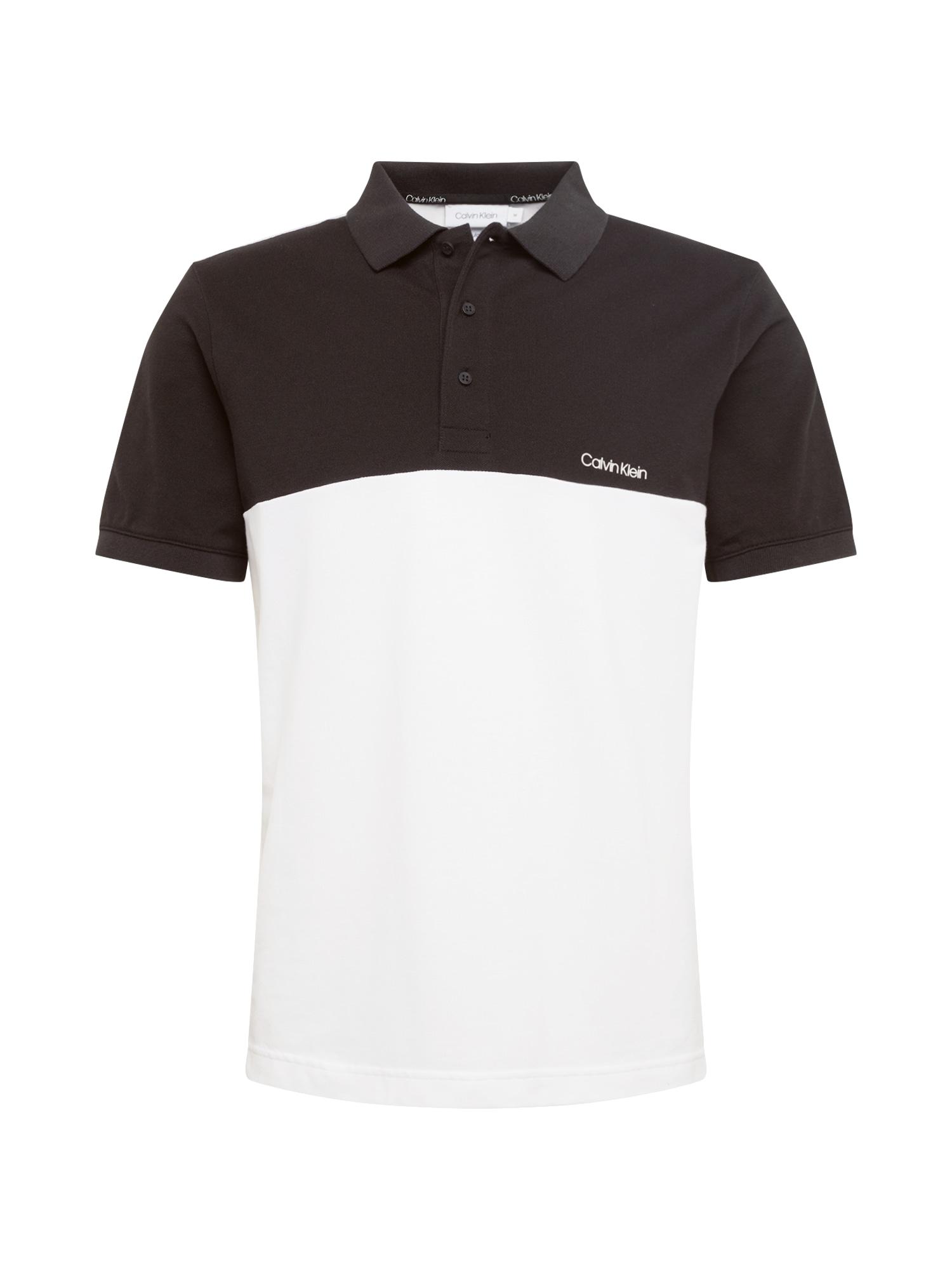 Calvin Klein Marškinėliai juoda / balta
