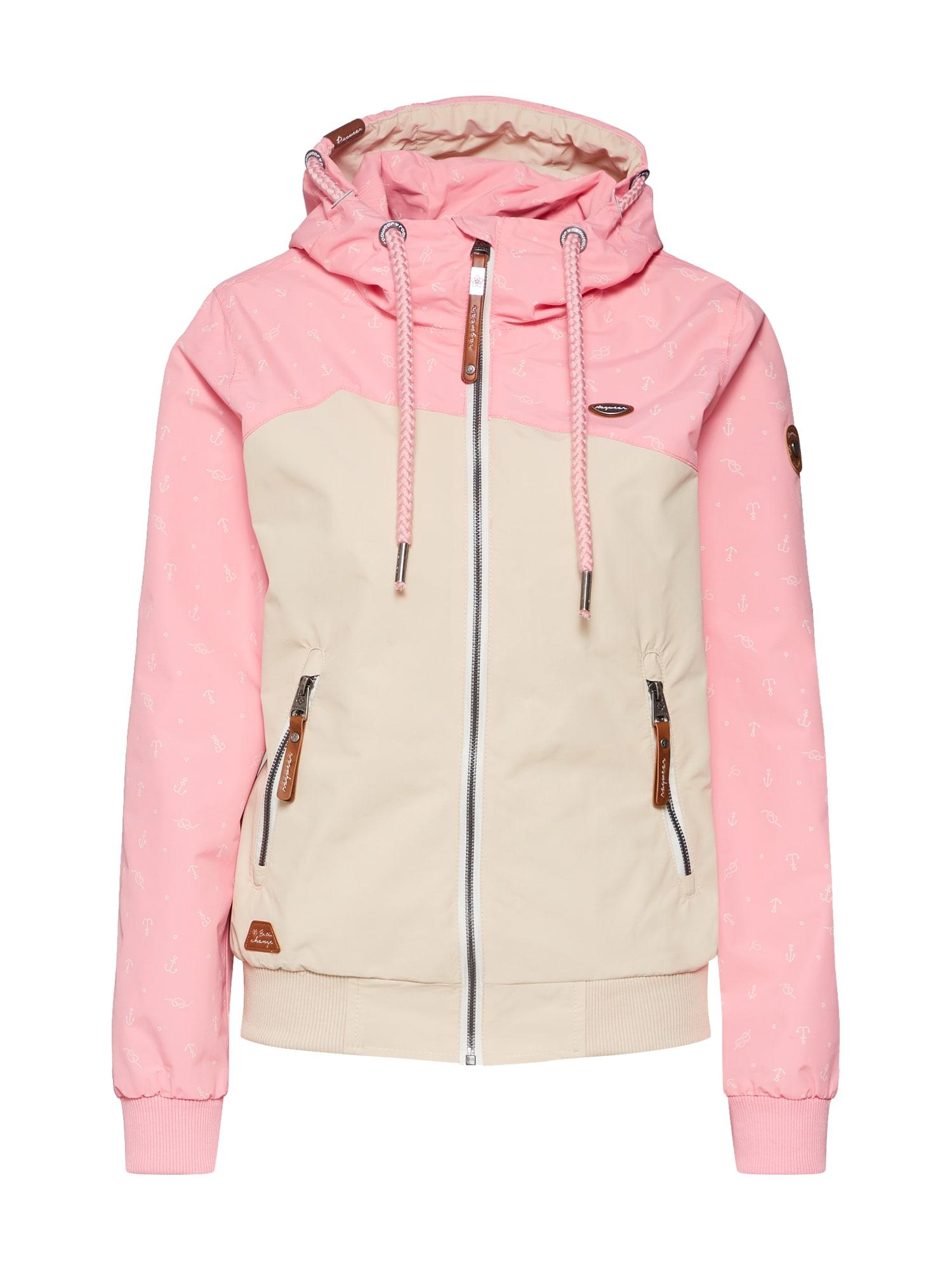 Přechodná bunda Nuggie B mix barev pink Ragwear