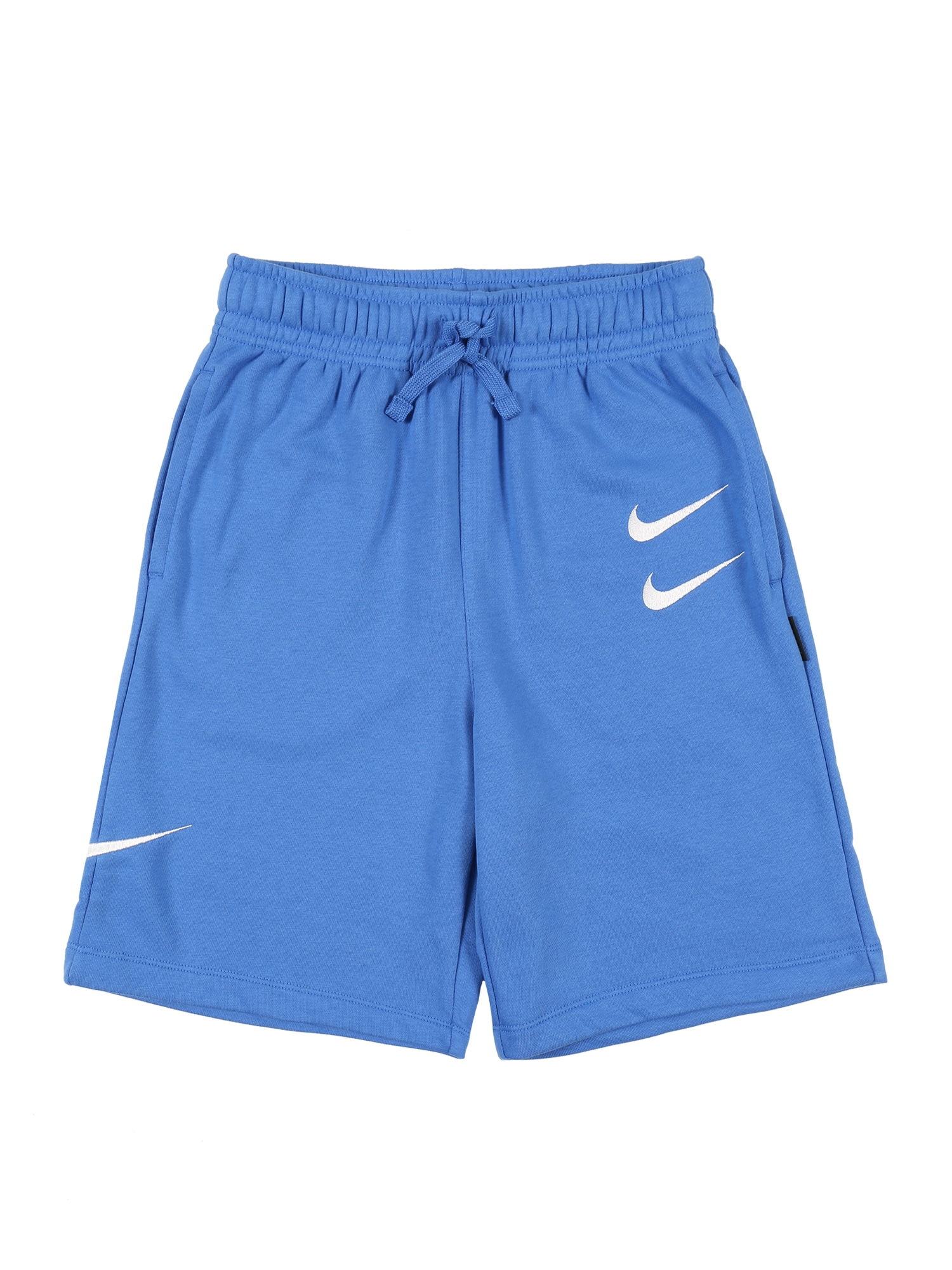 Nike Sportswear Športové nohavice 'SWOOSH'  svetlomodrá / biela