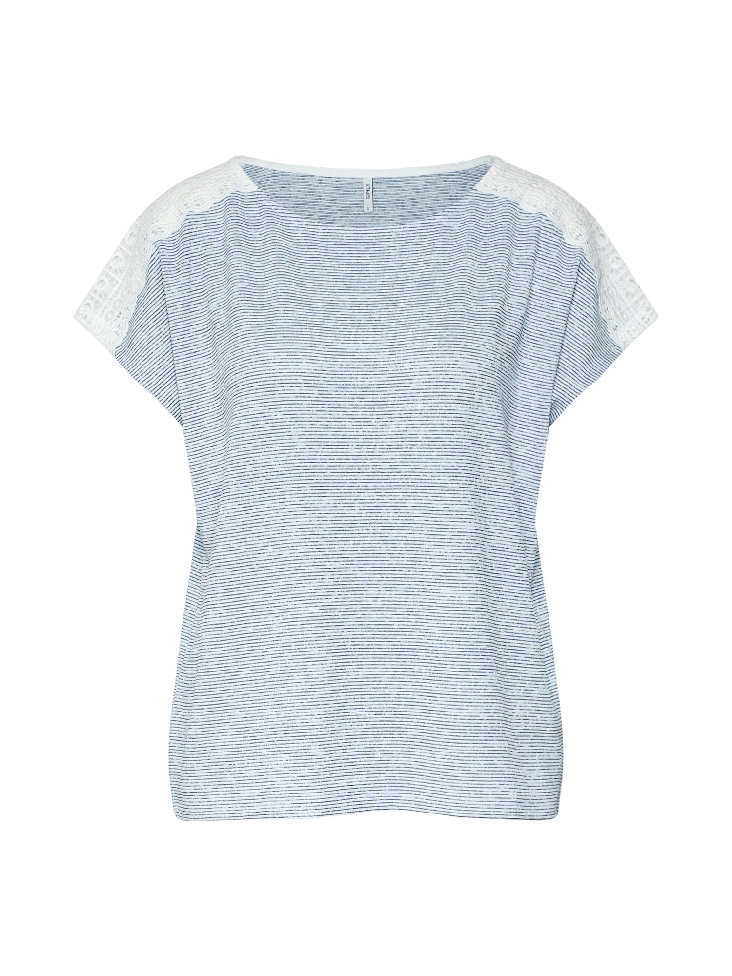 ONLY Tričko 'MIRA'  modrá / bílá