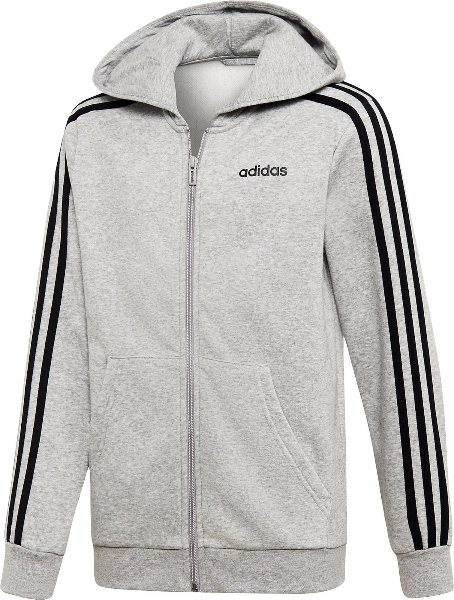 ADIDAS PERFORMANCE Sportinis džemperis juoda / pilka