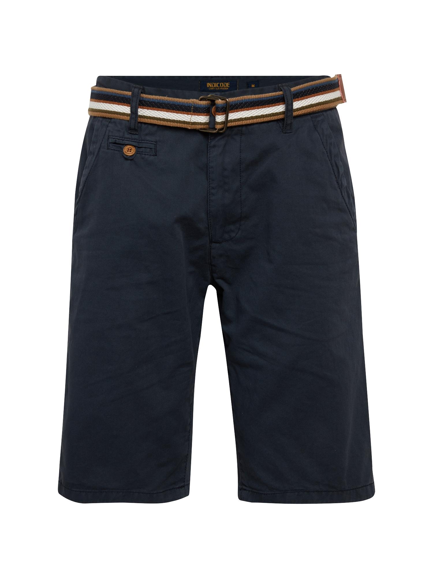 INDICODE JEANS Chino stiliaus kelnės 'Royce' tamsiai mėlyna
