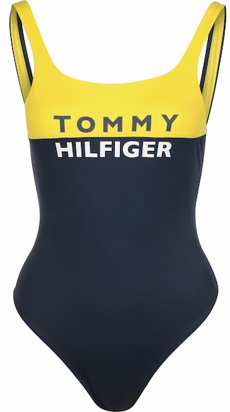 Bademode - Badeanzug › Tommy Hilfiger › weiß gelb dunkelblau  - Onlineshop ABOUT YOU