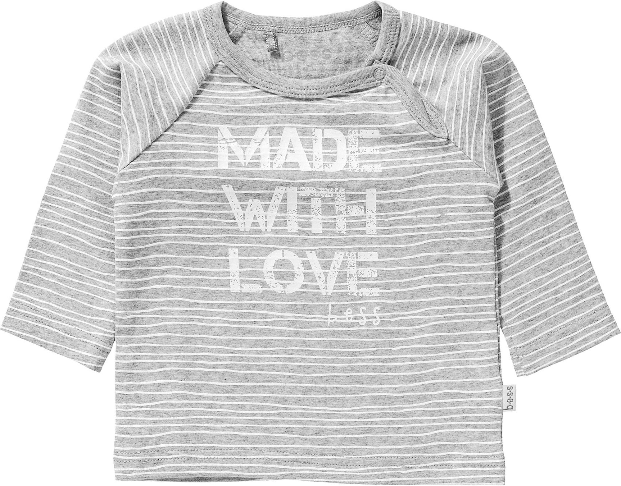 BESS Marškinėliai balta / šviesiai pilka