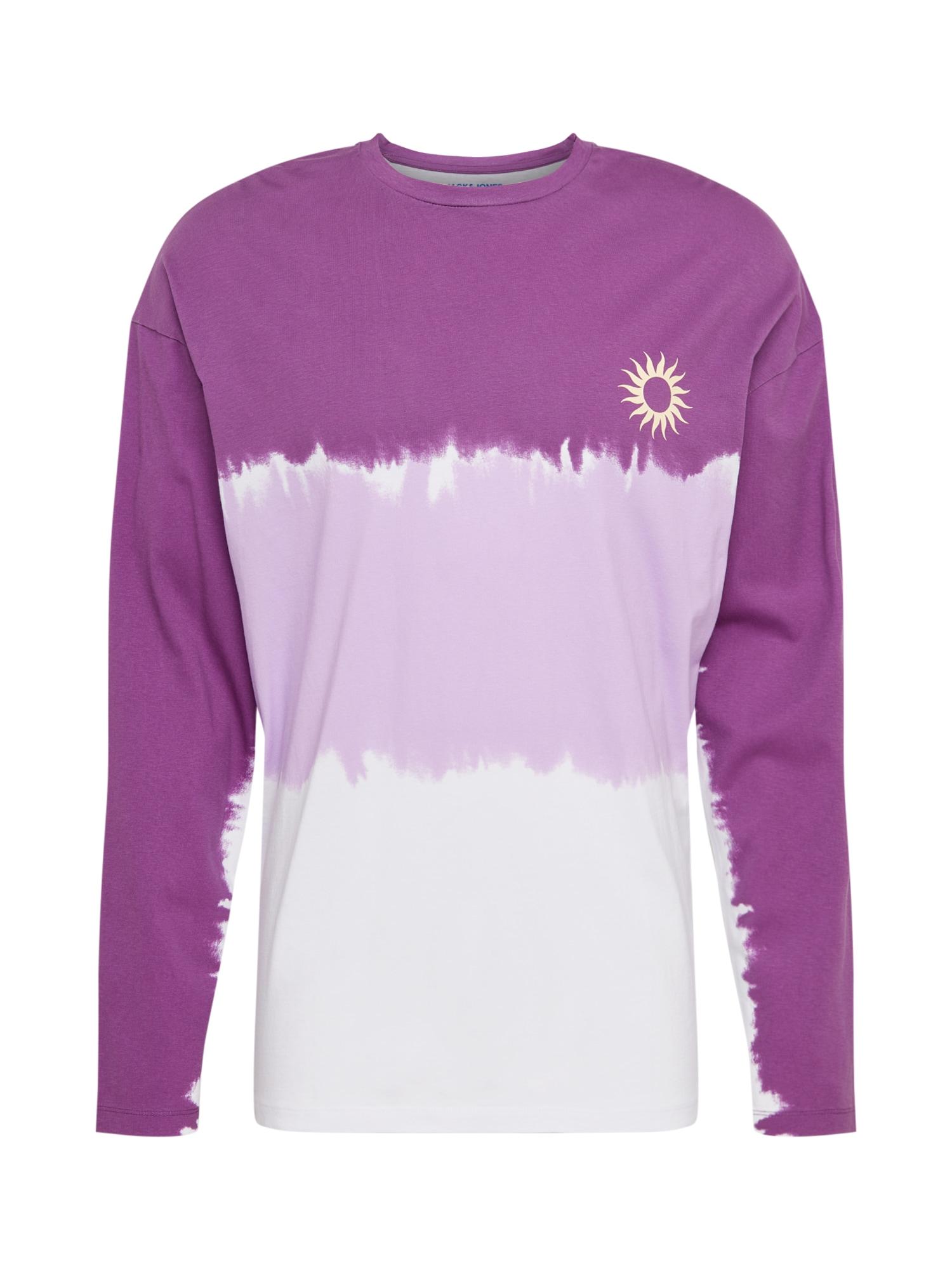 JACK & JONES Marškinėliai 'HOSSEGOR' šviesiai violetinė / balta / purpurinė