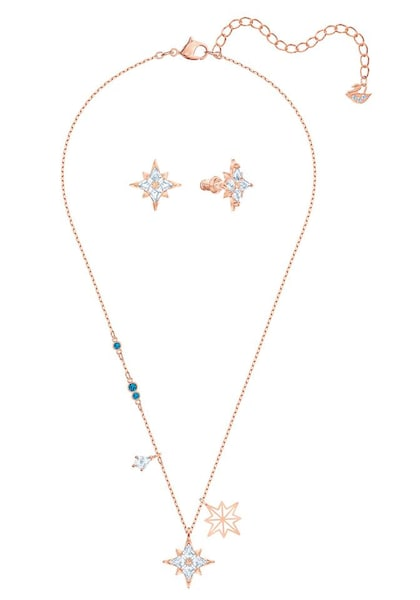 Schmucksets - Set 'Symbol star' › Swarovski › hellblau gold  - Onlineshop ABOUT YOU