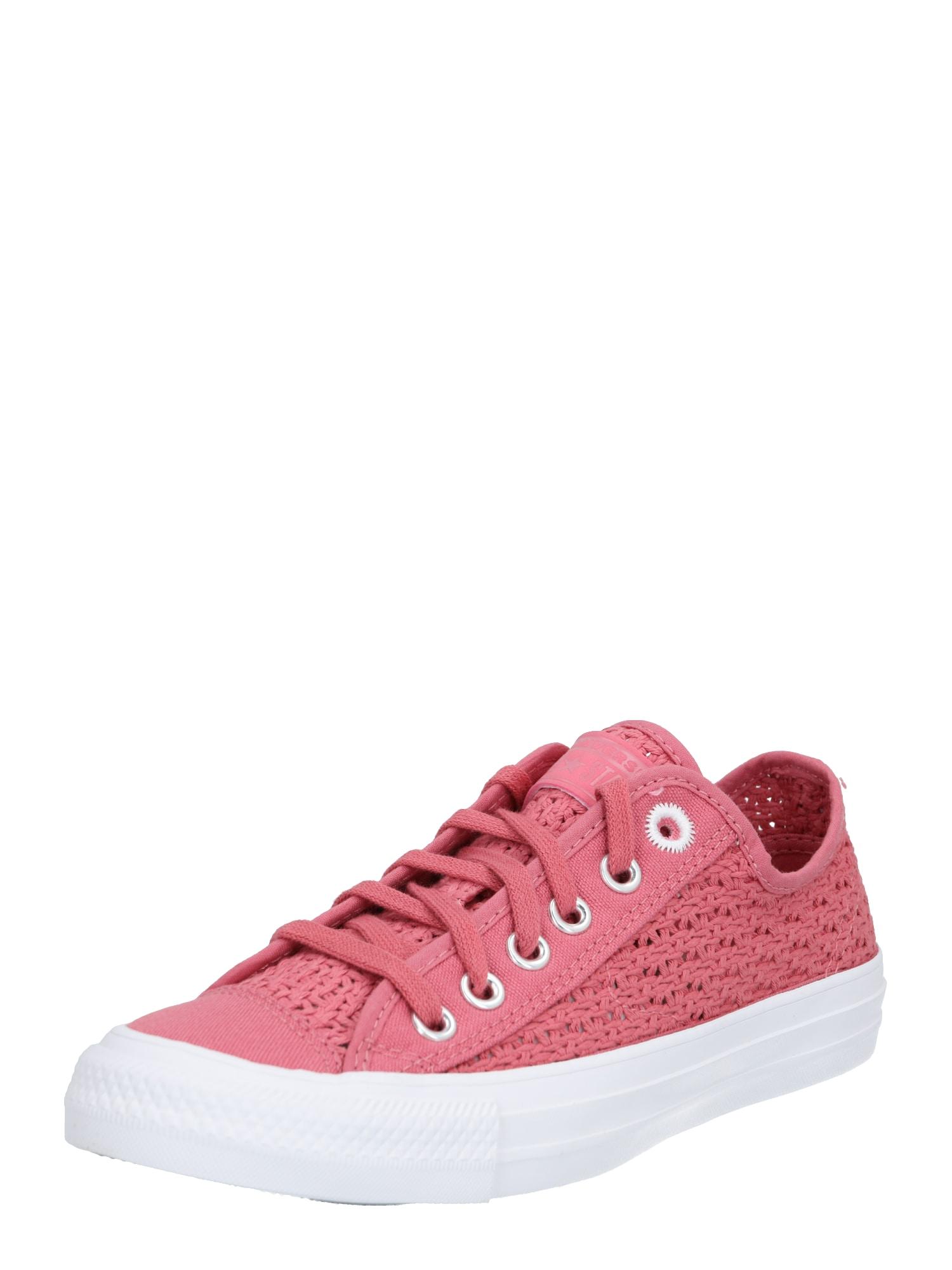 CONVERSE Rövid szárú edzőcipők 'ALL STAR - OX'  rózsaszín / fehér