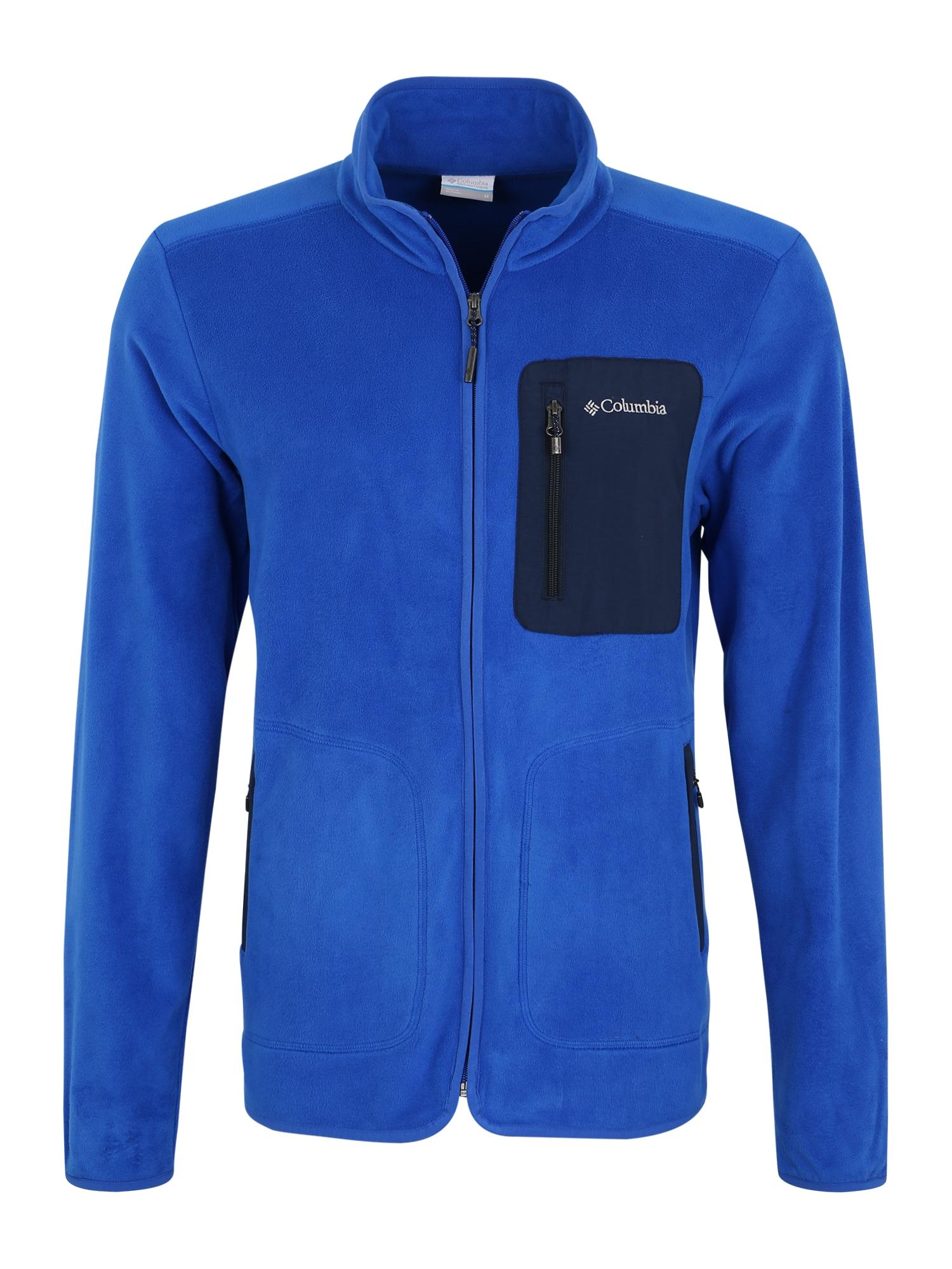 COLUMBIA Funkcinis flisinis džemperis 'Exploration FZ' tamsiai mėlyna