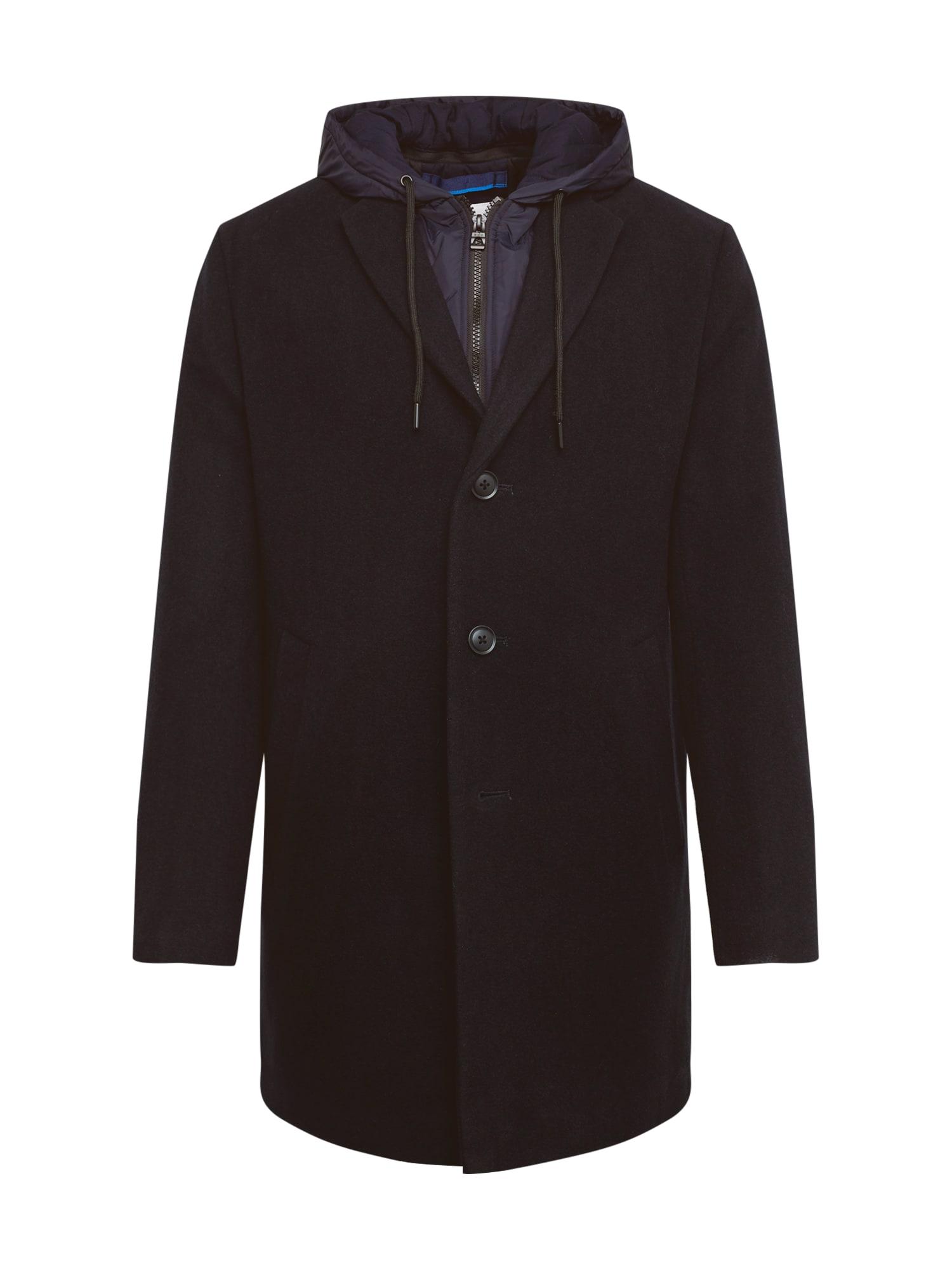 EDC BY ESPRIT Rudeninis-žieminis paltas '2in1 hood coat*' tamsiai mėlyna