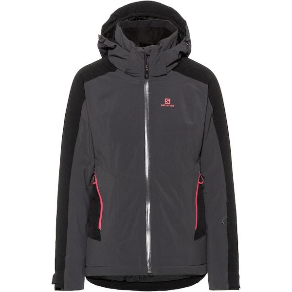 Jacken für Frauen - Skijacke 'Brilliant' › SALOMON › anthrazit  - Onlineshop ABOUT YOU