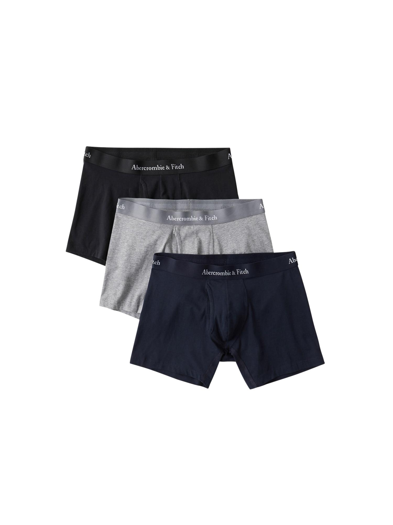 Abercrombie & Fitch Boxerky  sivá / modré / čierna
