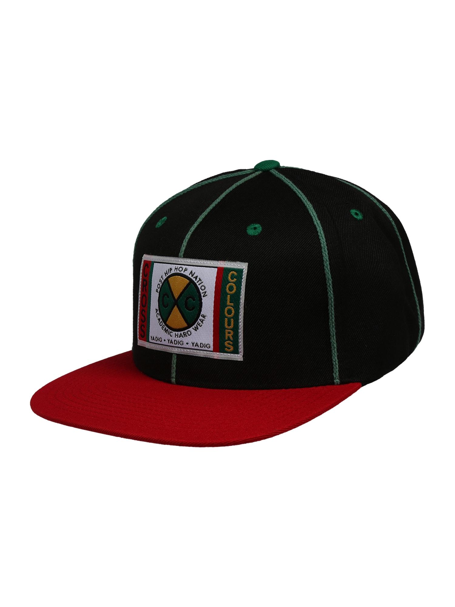 CROSS COLOURS Kepurė 'Classic Soutache Snapback' raudona / mišrios spalvos / juoda / mėtų spalva