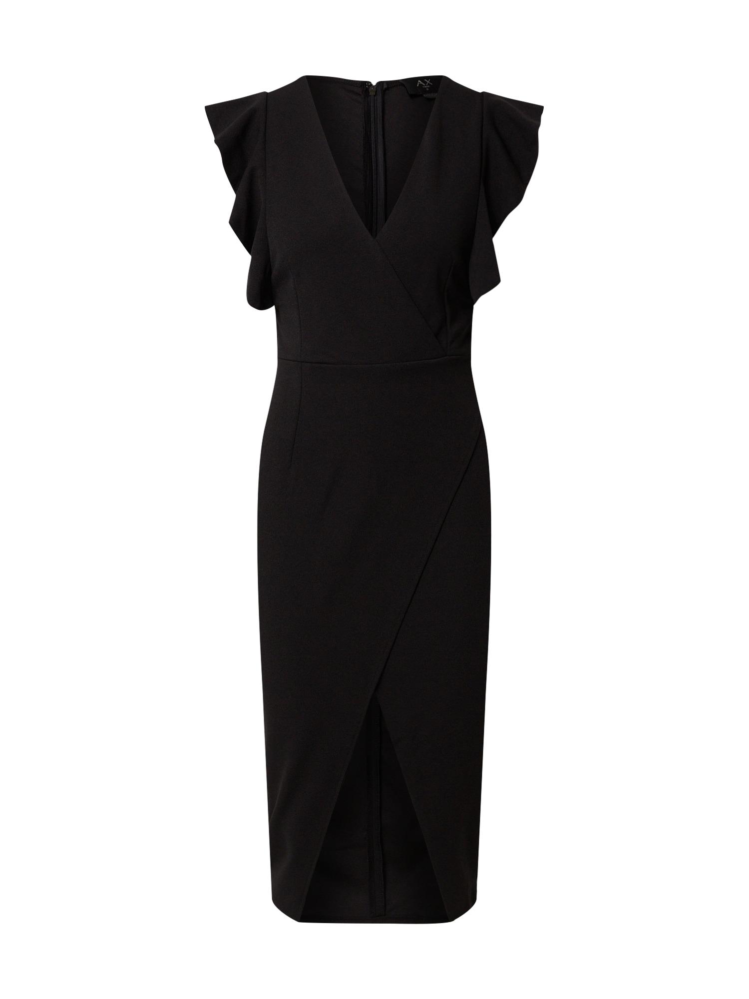 AX Paris Trumpa kokteilinė suknelė juoda