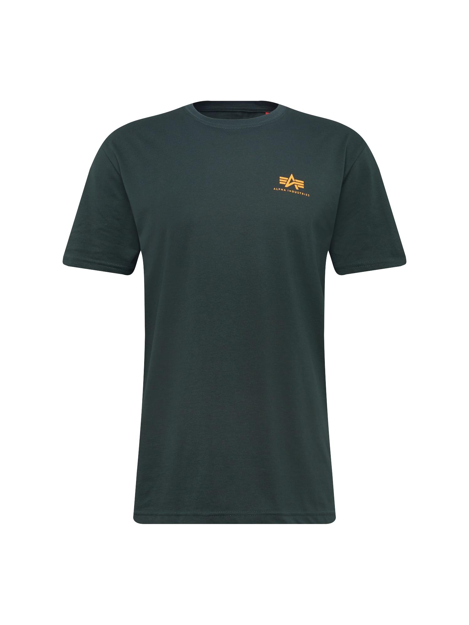 ALPHA INDUSTRIES Marškinėliai smaragdinė spalva