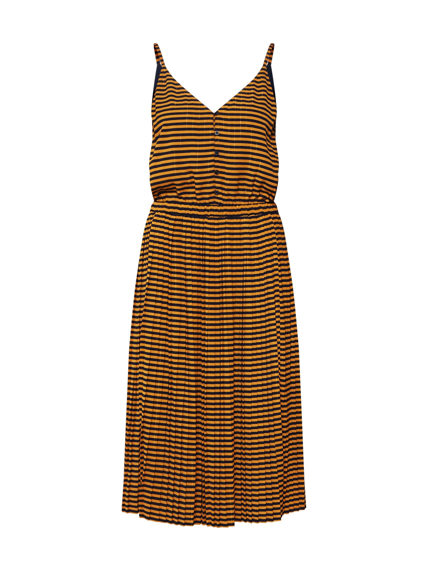 Letní šaty námořnická modř zlatá Sessun