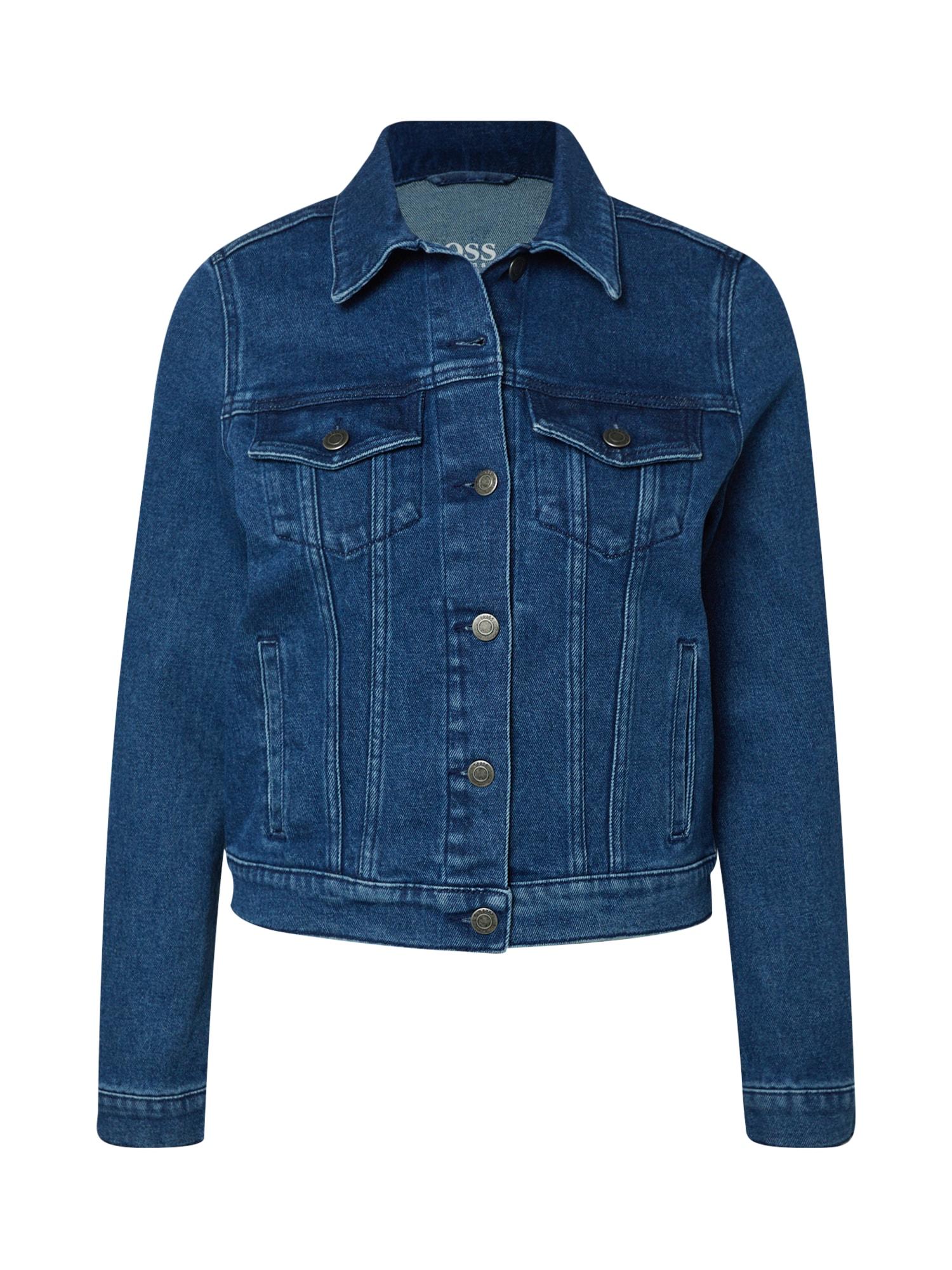 BOSS Demisezoninė striukė 'J90 Compton' tamsiai (džinso) mėlyna