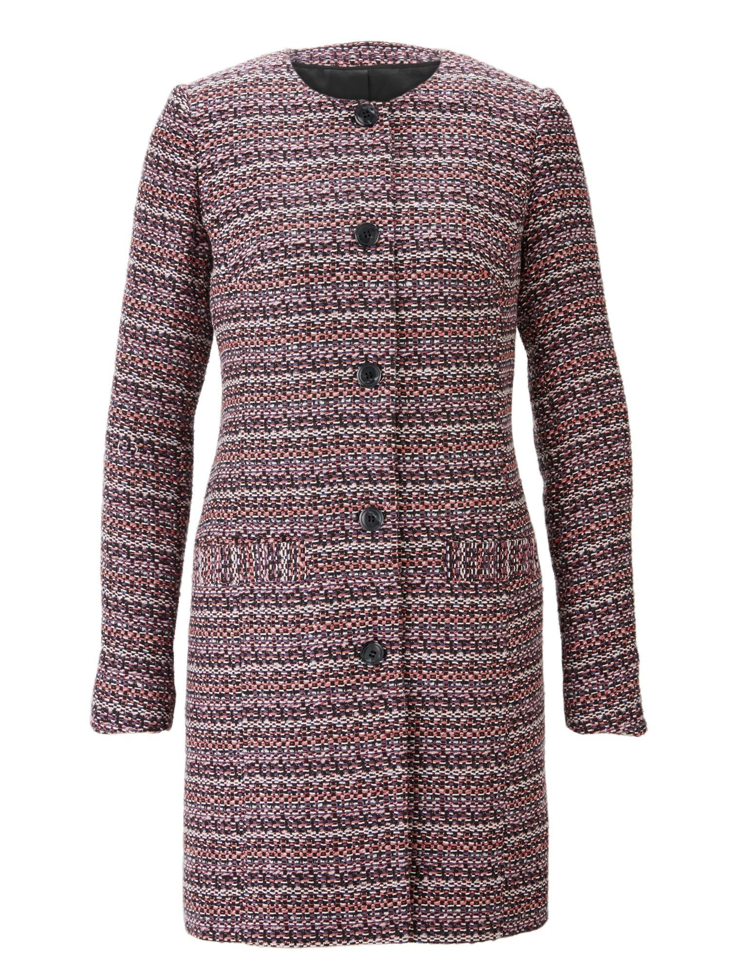 heine Demisezoninis paltas purpurinė / mišrios spalvos / rožių spalva