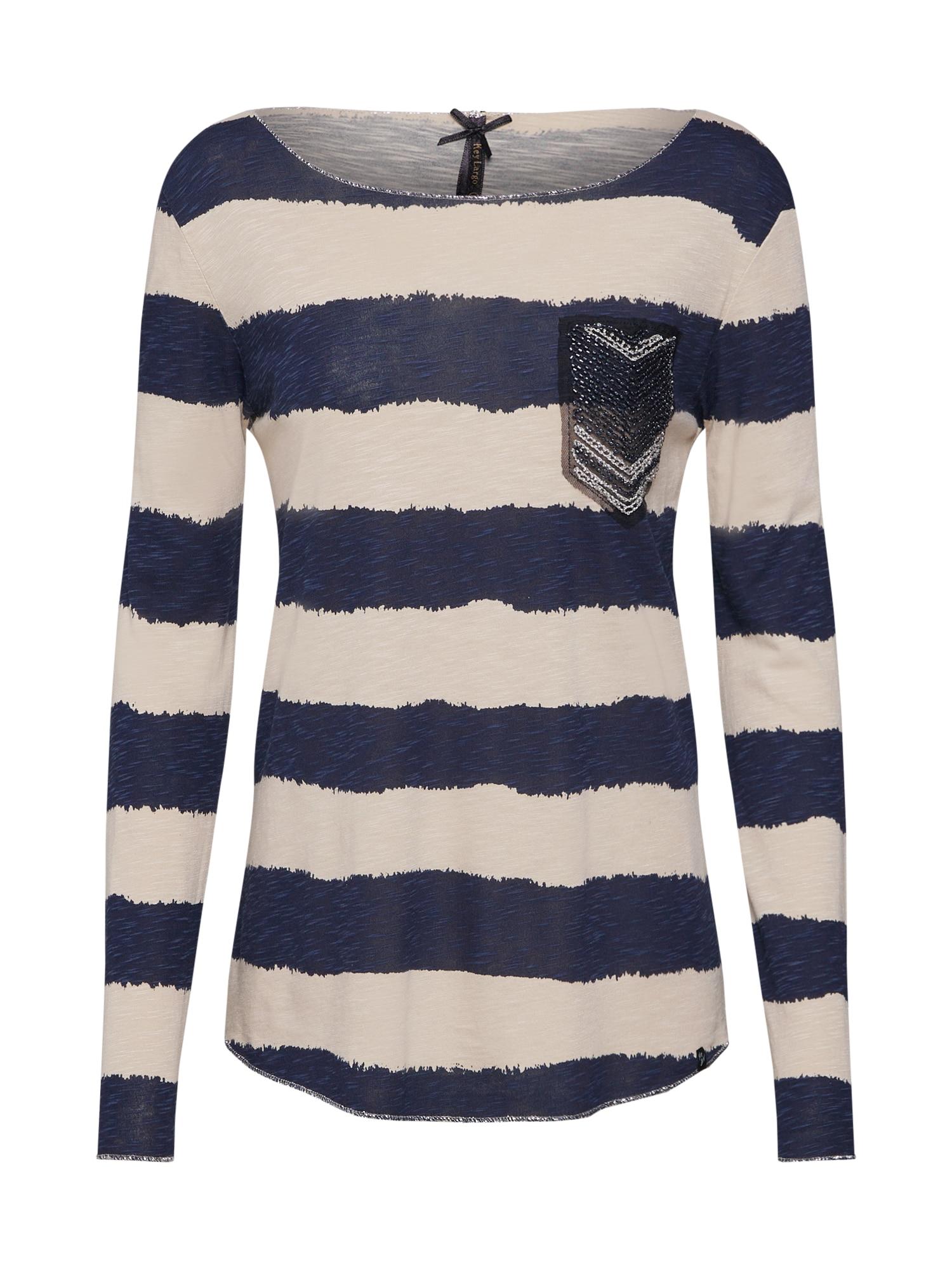 Tričko JENNY písková námořnická modř Key Largo
