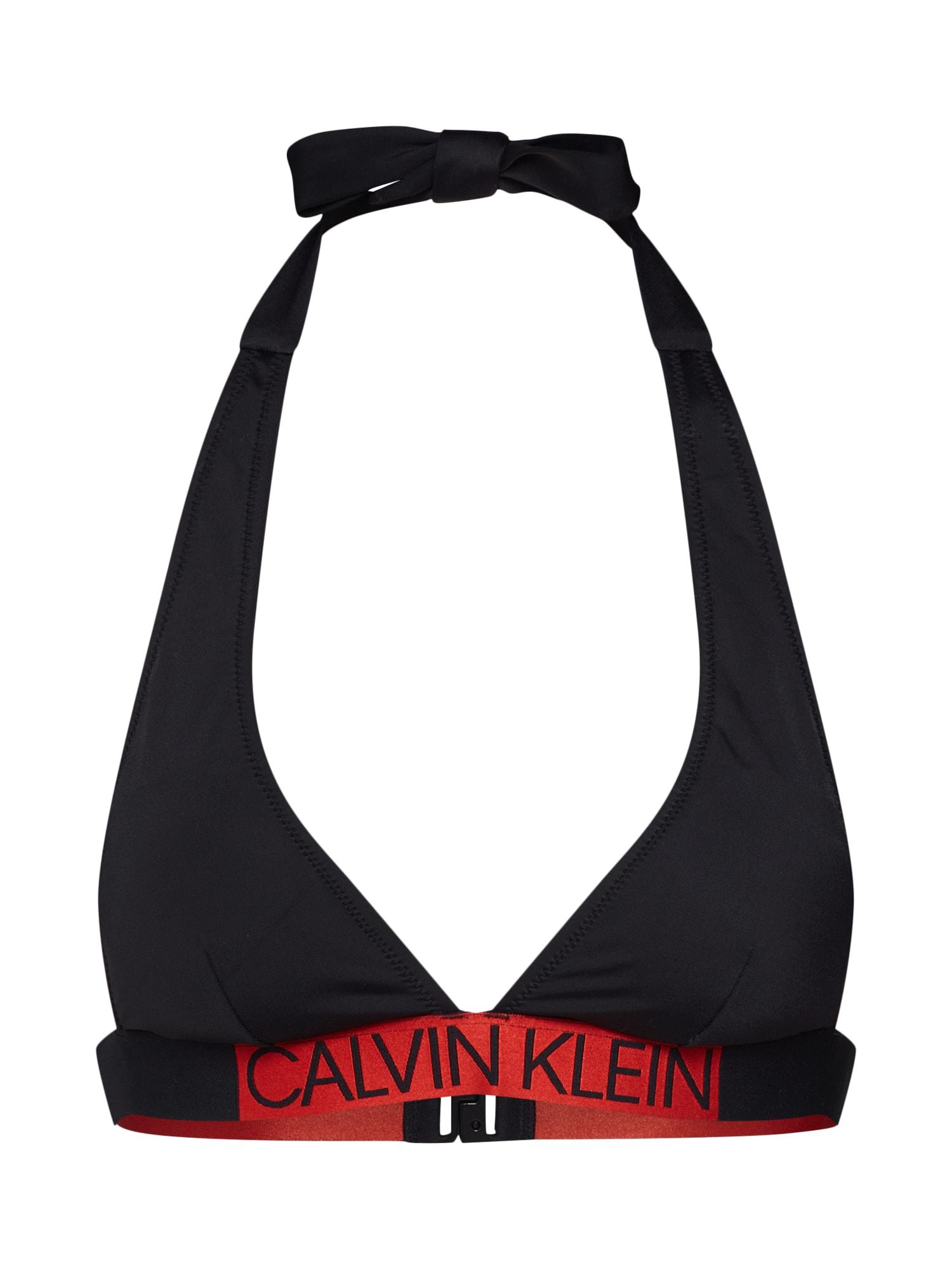 Calvin Klein Swimwear Horní díl plavek  černá