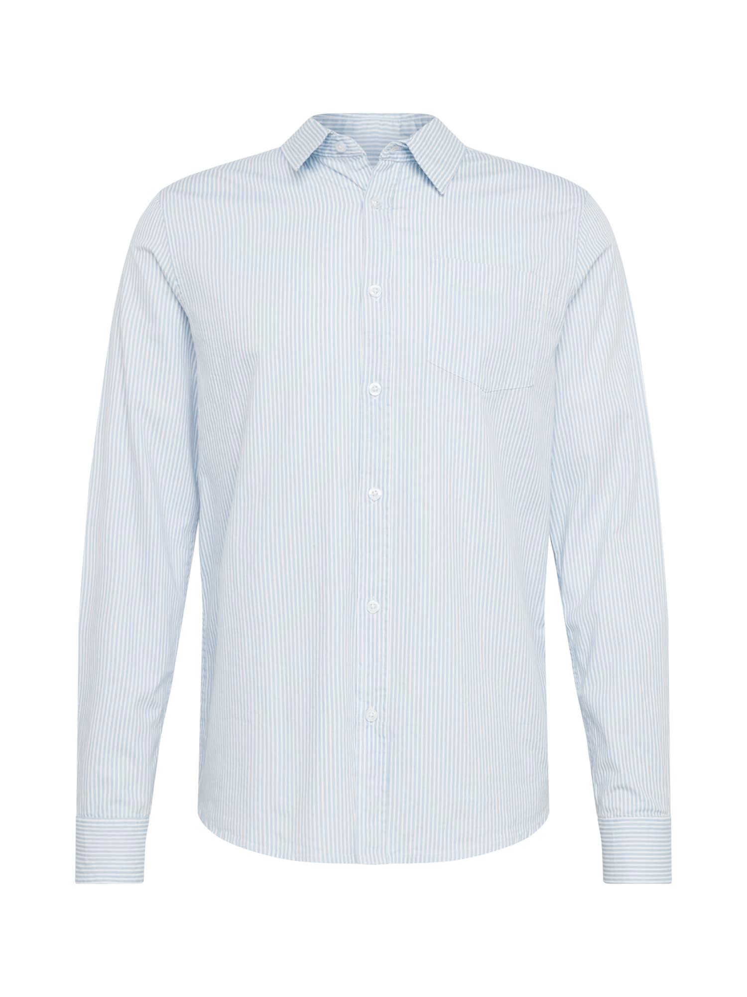 BRAVE SOUL Dalykiniai marškiniai balta / šviesiai mėlyna