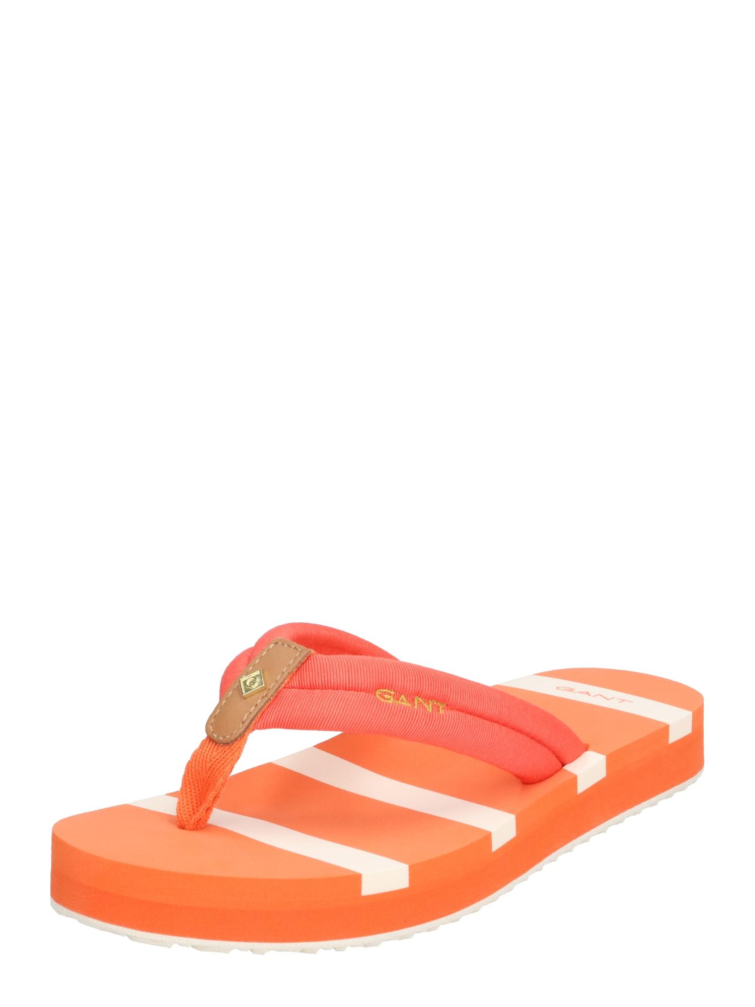 GANT Šlepetės per pirštą 'Lemonbeach' oranžinė