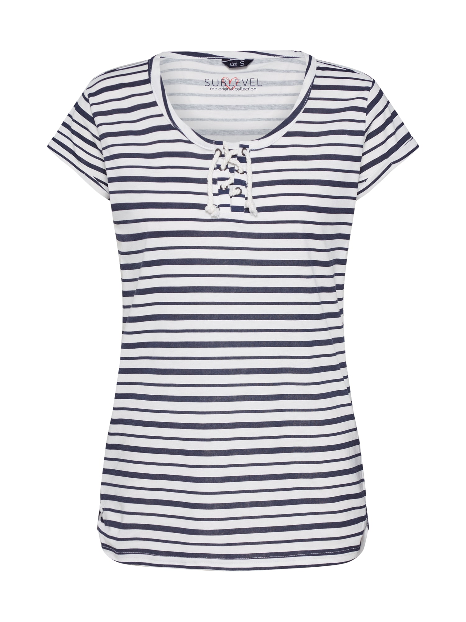 Sublevel Tricou  navy / offwhite