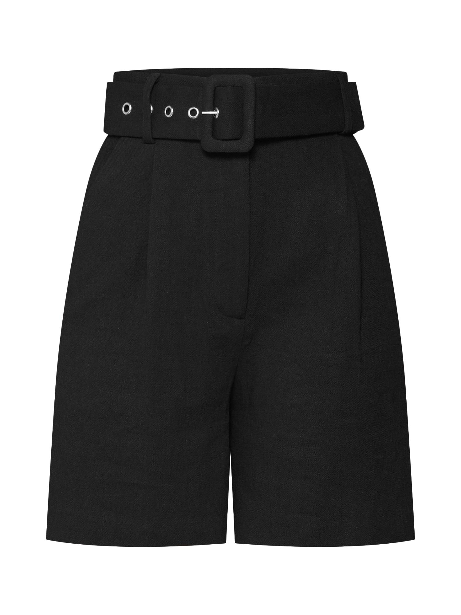 EDITED Klostuotos kelnės 'Faye' juoda