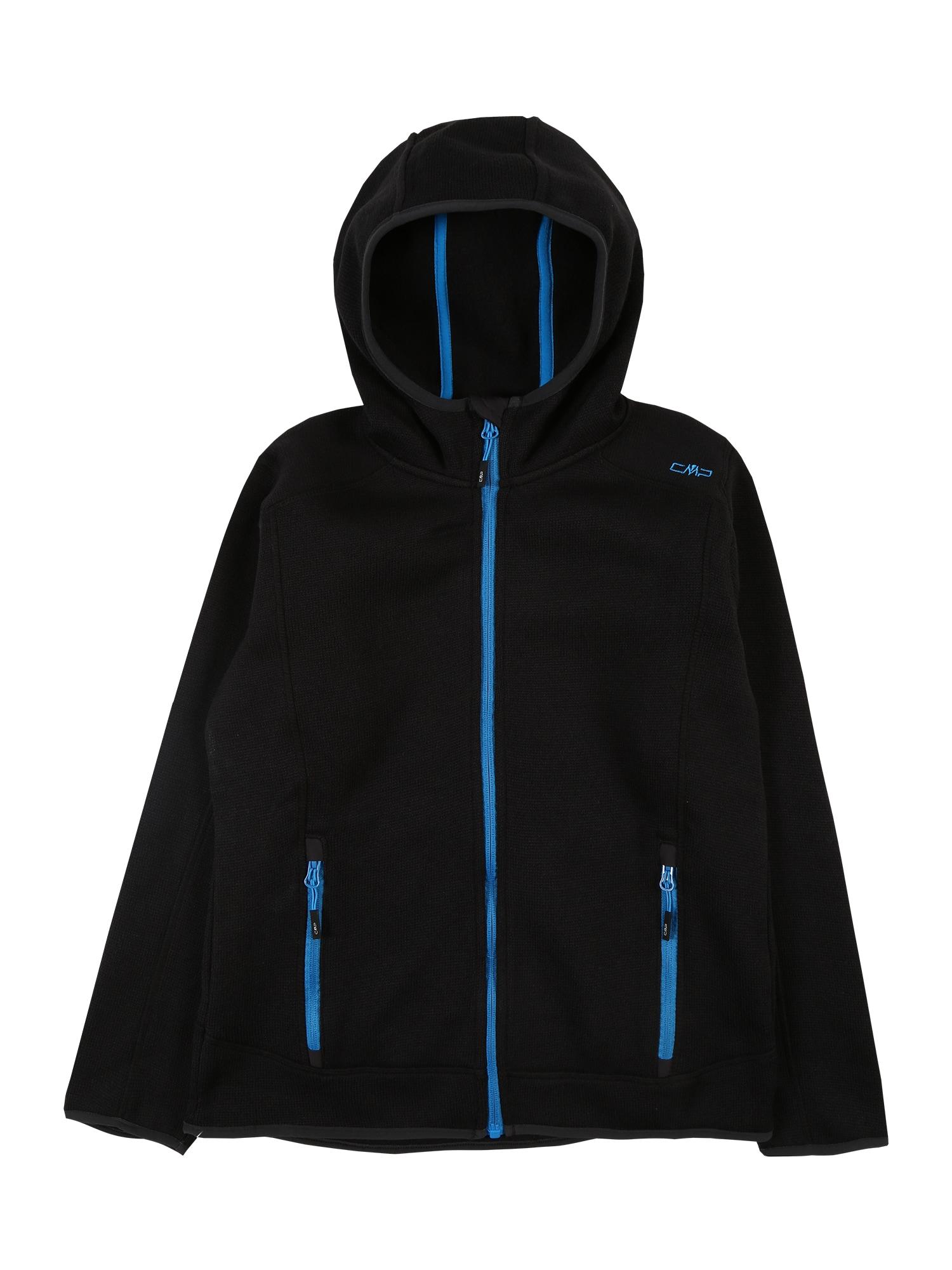 CMP Sportovní mikina  černá / modrá