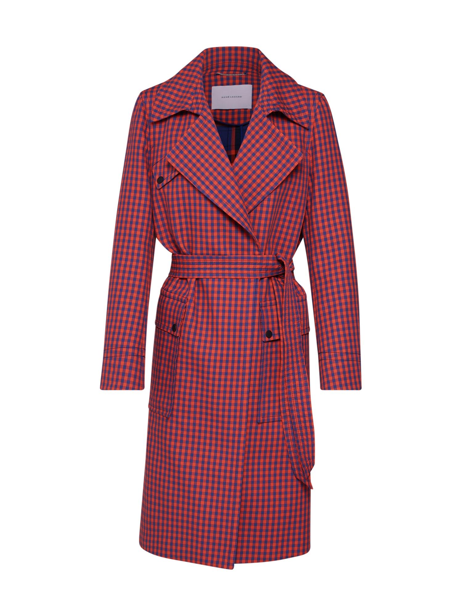 Přechodný kabát M009S modrá červená RENÉ LEZARD