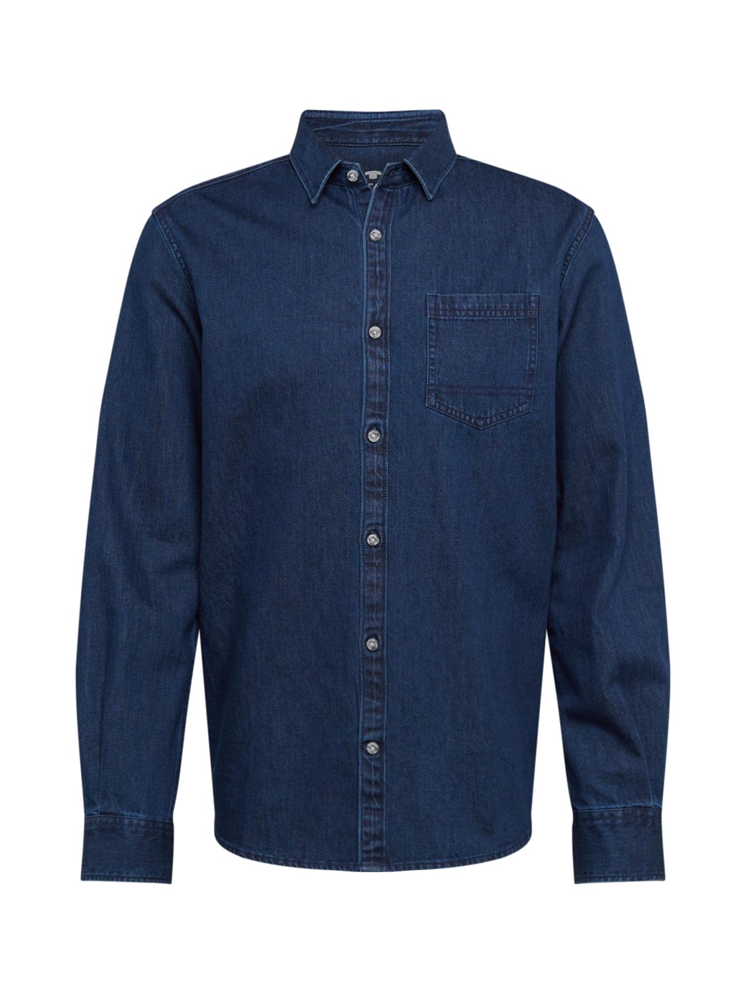 TOM TAILOR Dalykiniai marškiniai 'Ray' tamsiai (džinso) mėlyna
