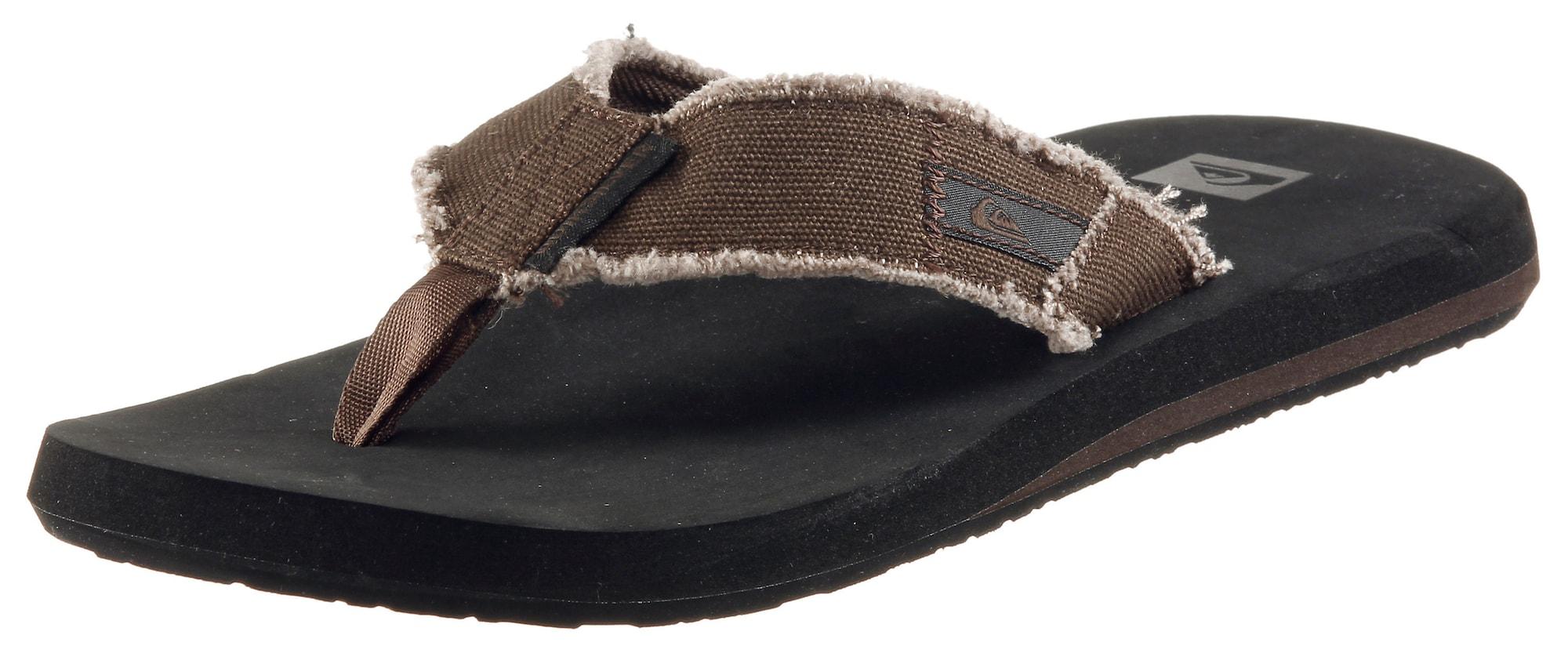 Plážovákoupací obuv MONKEY ABYSS tmavě hnědá QUIKSILVER